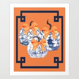 Chinoiserie Pumpkin Trio Art Print