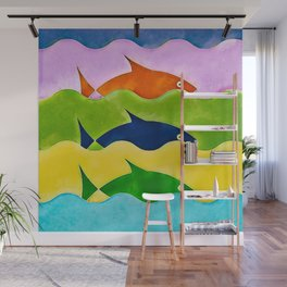 Colorful fishes Wall Mural