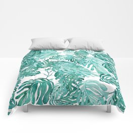Monstera pattern Comforters