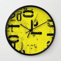 code Wall Clocks featuring Code by ayarti