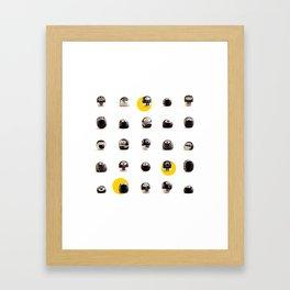 stoneheads 002 Framed Art Print