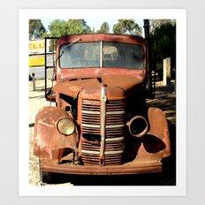 One Eyed Bedford Truck Art Print