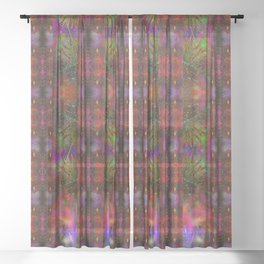 Pyrotechnic Pattern Sheer Curtain