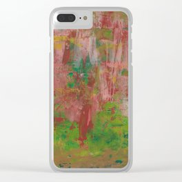 Red Rocks Abstract Clear iPhone Case