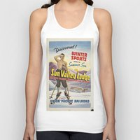 skiing Tank Tops featuring SKIING by Kathead Tarot/David Rivera