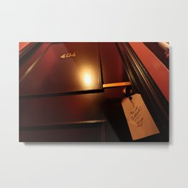404 error do not disturb Metal Print