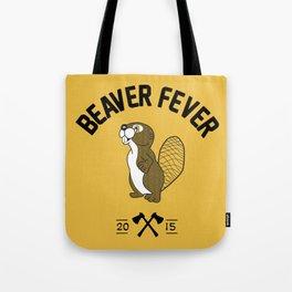 Beaver Fever - Black and White Tote Bag