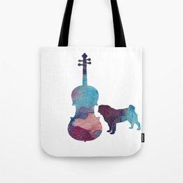 Viola pug art Tote Bag