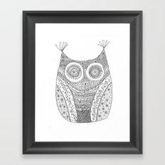 Owl Doodle art Framed Art Print