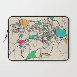 Colorful City Maps: Ankara, Turkey Laptop Sleeve
