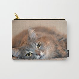 Lazy Cat Carry-All Pouch