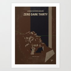 No692 My Zero Dark Thirty minimal movie poster Art Print