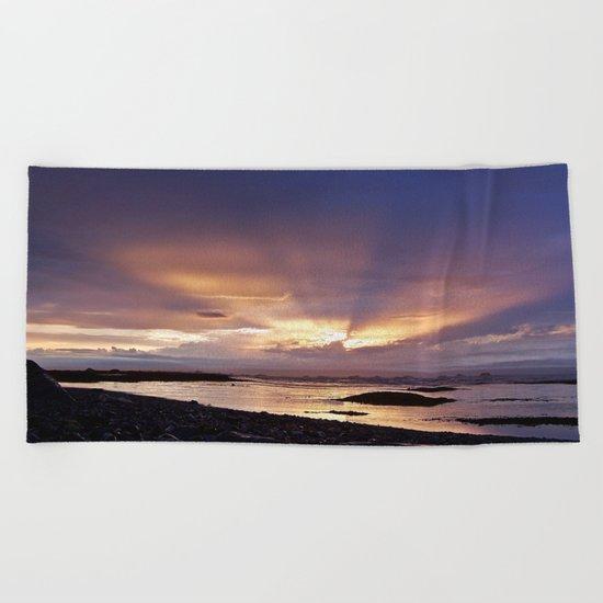 Beams of Light across the Sky Beach Towel