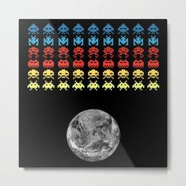 Earth & Aliens #1 Metal Print