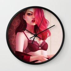 Red Velvet Wall Clock