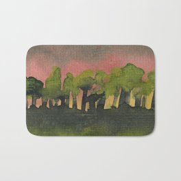 The Woods I Pink Bath Mat