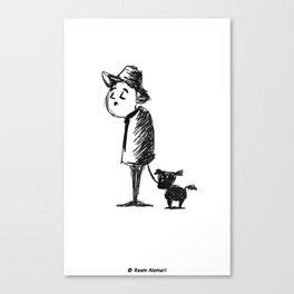 Dog Walker Canvas Print
