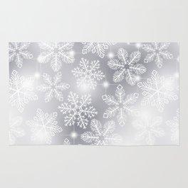 Snowflakes and lights Rug