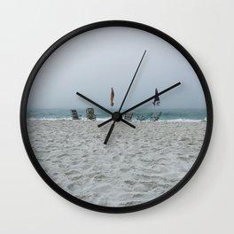 Deserted Beach Wall Clock