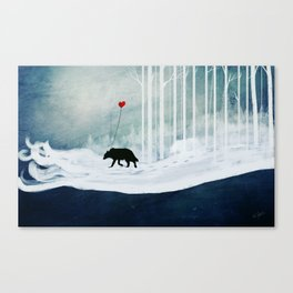 WOLF - A Love Always Carried  Canvas Print