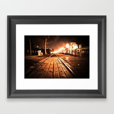 Looking Down The Rails Framed Art Print