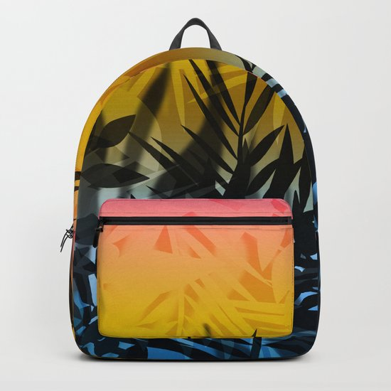 Hot summer . Heat . Backpack