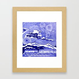 Freight train in New Westminster, British Columbia Framed Art Print