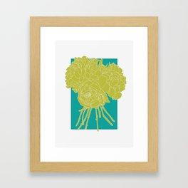 Floral Greens Framed Art Print