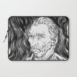 Van Gogh in black Laptop Sleeve