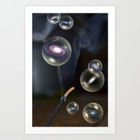 holographic Art Prints featuring holographic universe by fodorpetya