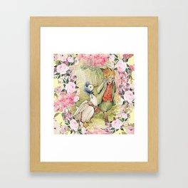 Jemima Puddle-Duck Floral Framed Art Print