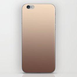 RoseGold Stripes iPhone Skin