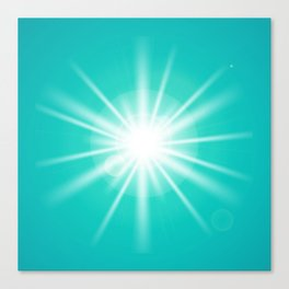 turquoise and light effect Canvas Print