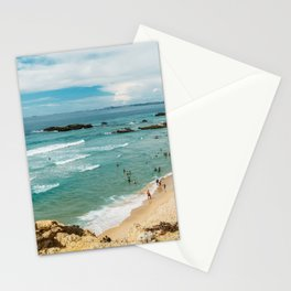 People Having Fun On Beach, Algarve Lagos Portugal, Tourists In Summer Vacation, Wall Art Poster Stationery Cards