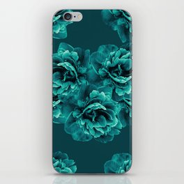 Turquoise Peony Flower Bouquet #1 #floral #decor #art #society6 iPhone Skin