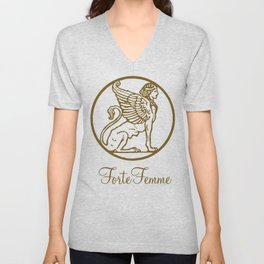 ForteFemme Sphynx with event name Unisex V-Neck