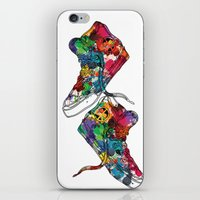 sneakers iPhone & iPod Skins featuring Paint sneakers by Cindys