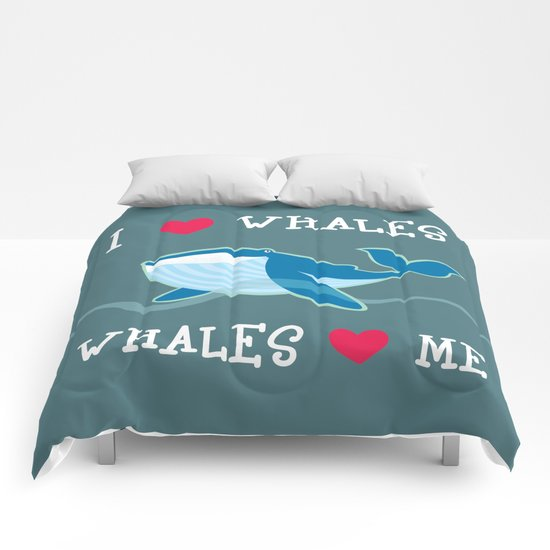 love whales Comforters