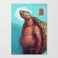 turtles Canvas Prints featuring Turtles by Ronan Lynam