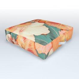 Aloha Orange Sherbet Outdoor Floor Cushion