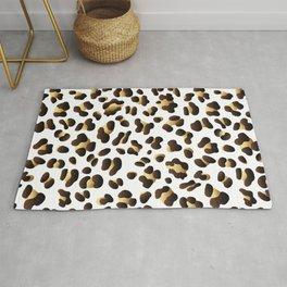 Black & Gold Leopard Spots Rug