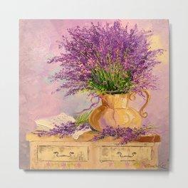 A bouquet of lavender Metal Print