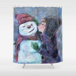 Kiss a snowman Shower Curtain