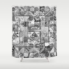 The Letter H Shower Curtain