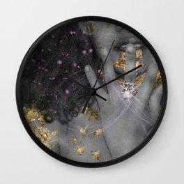 """Gold Fantasy 2 """" Black Gold """" Wall Clock"""