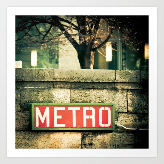 METRO SIGN, PLACE DE LA CONCORDE Art Print
