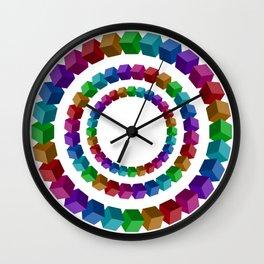 Circles illustion penrose Wall Clock