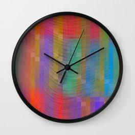 Purple Textured Pattern Wall Clock