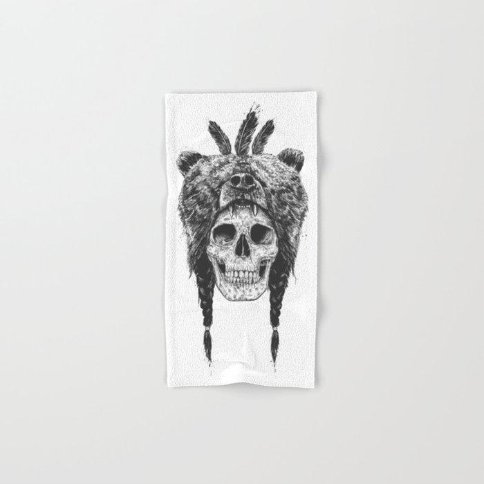 Dead shaman (b&w) Hand & Bath Towel