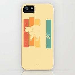 Raccoon Sweet Little Bear Vintage Retro iPhone Case